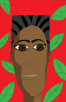 Arsenio Face by Shante Schuler