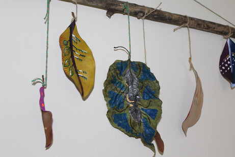 Painted Magnolia Leaves by Shante Schuler