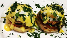 Crab Cake Eggs Benedict!!! 🔥🔥🔥 #eggs