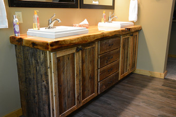 Thick Cut Pine Bathroom Vanity