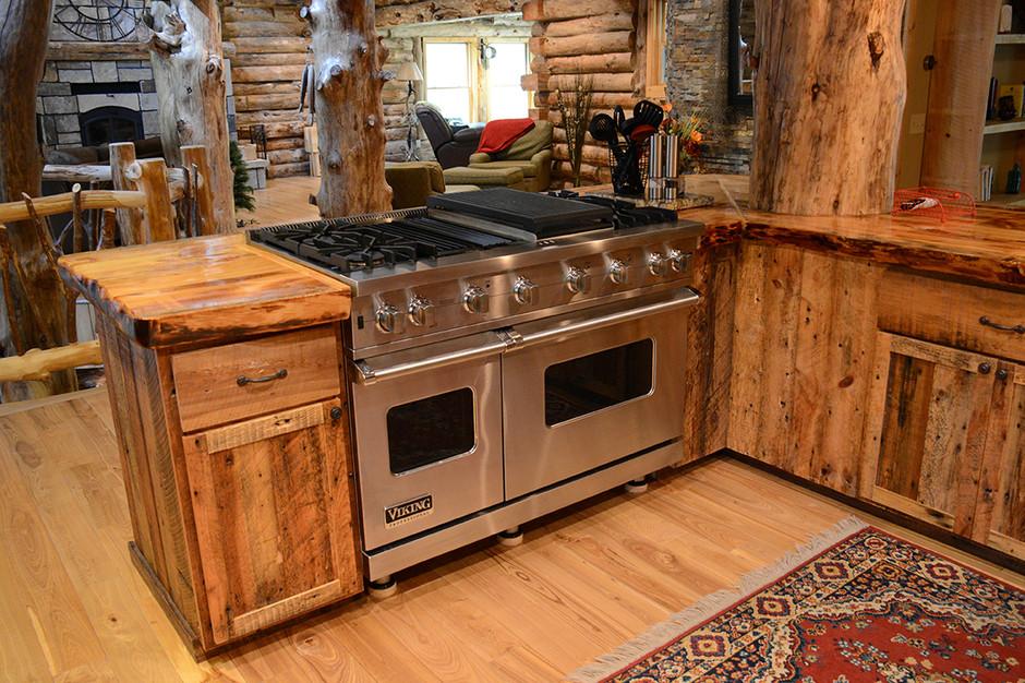 Custom Barnwood Kitchen
