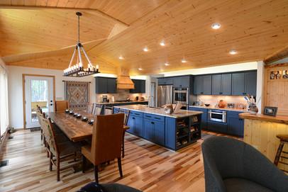 Custom Blue Cabinetry