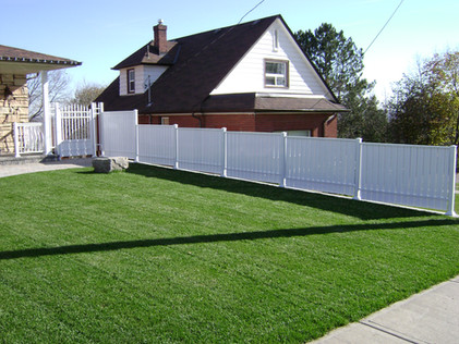PVF1 - White Privacy fence