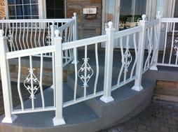 PR25 - Curved White Railing Porch 2