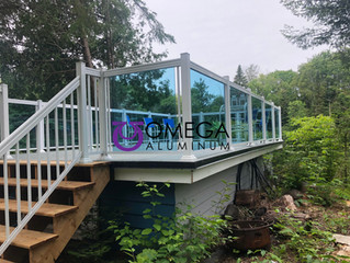 GR21 - Blue Tint Glass Railing