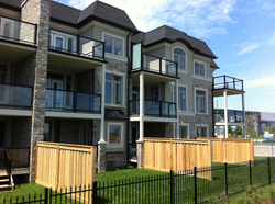 Aluminum Balcony with Glass railing and dividers