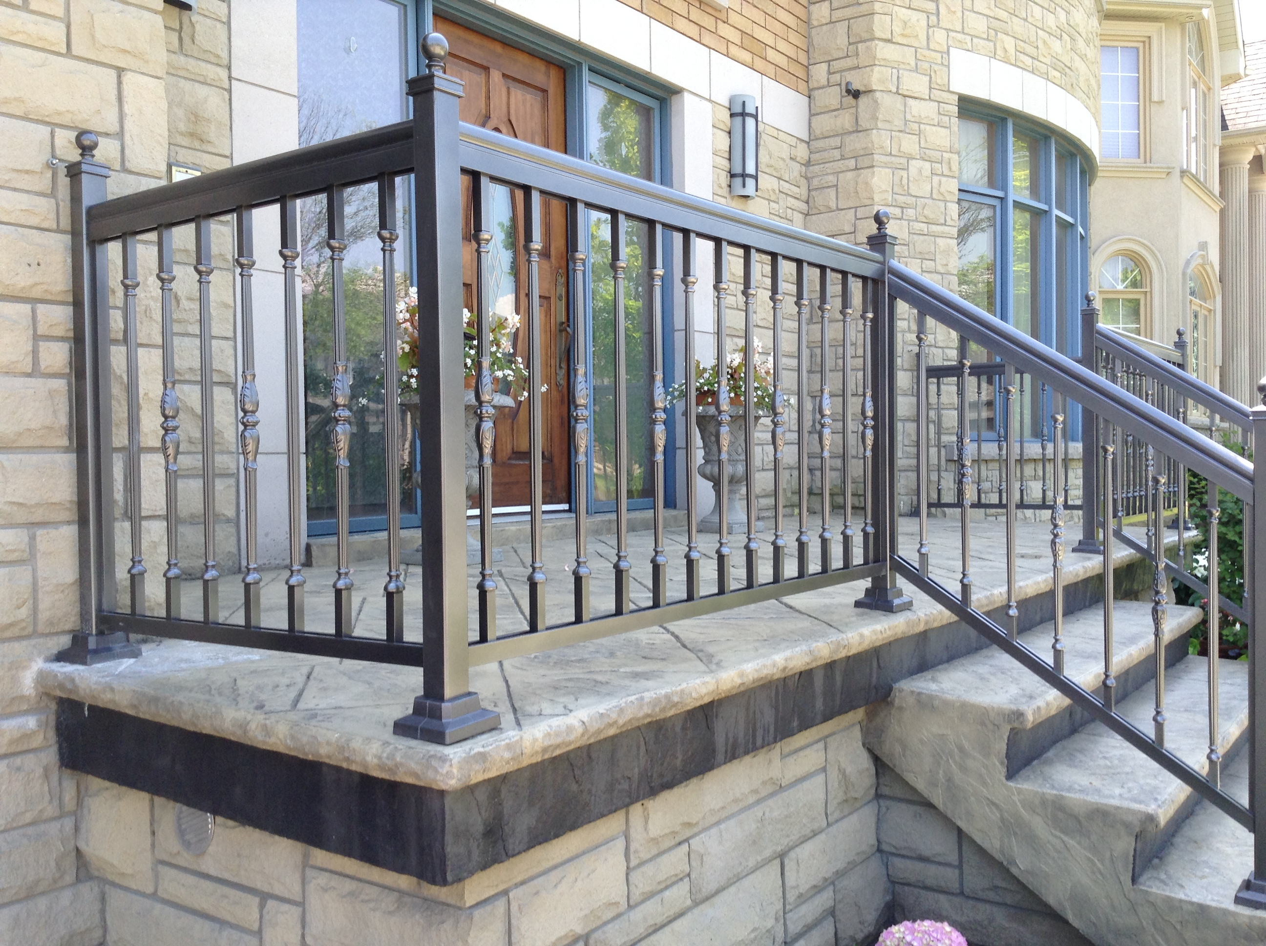 Gun metal French Picket Railing