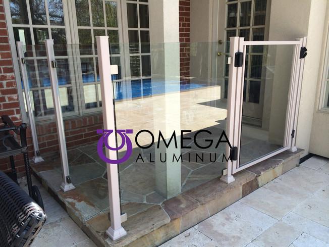 GR22 - Frameless Glass Railing with Gate