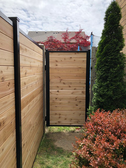 PVF3 - Aluminum and Cedar Hybrid Privacy Fence and Gate