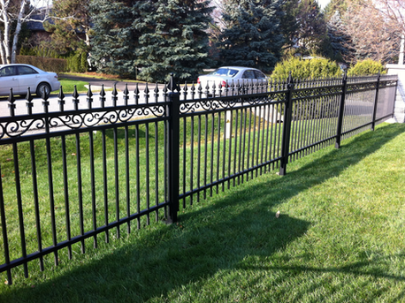 PF12 - Black Fence with Accessory