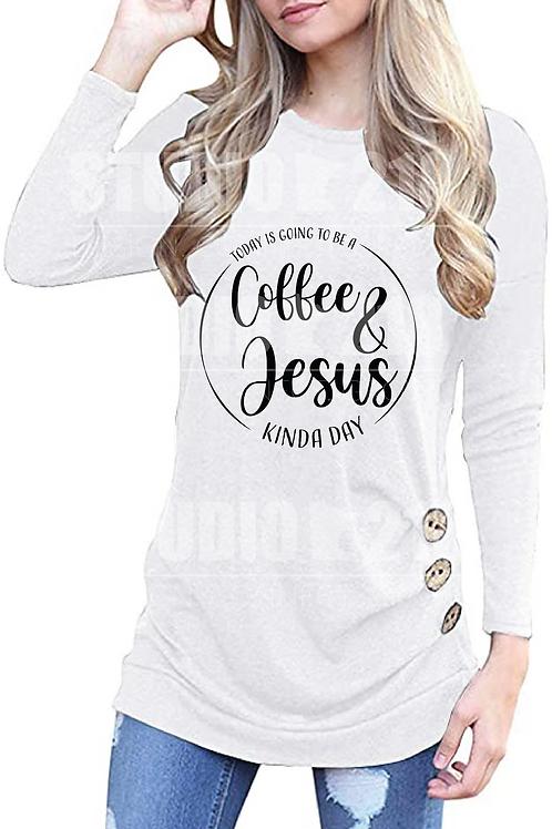 Coffee & Jesus Kinda Day | Tunic Top