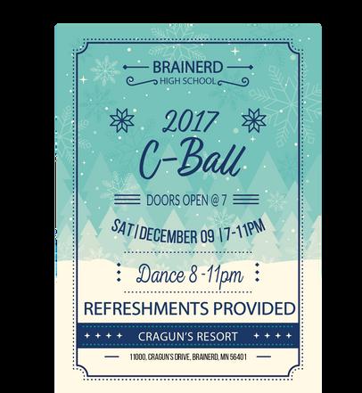 Flyer for Christmas Ball