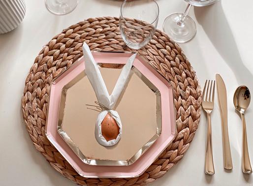 Decoração de Mesa de Almoço de Páscoa