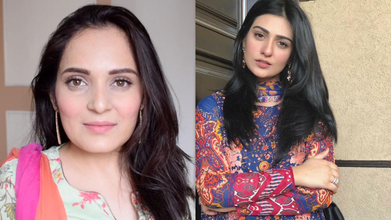 Sara Khan Stani Actress Natural Makeup Look Glosh Up