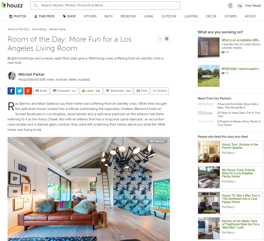 Houzz - March 26th 2015