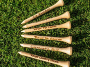 Personalized Bamboo Golf Tees