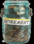 retirement money pot jar glass UNPAID.pn