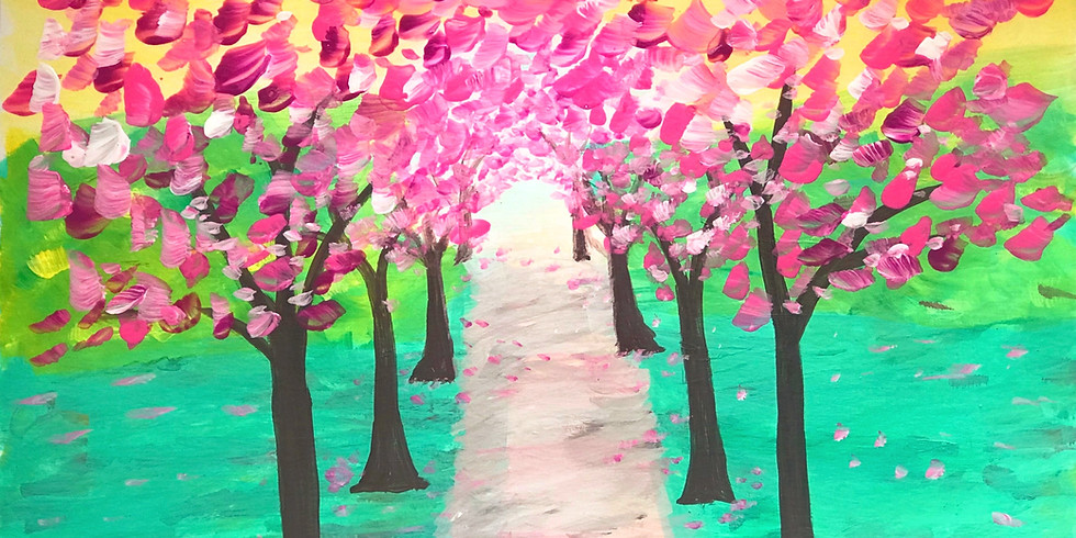 Cherry Blossom Painting Ages 7+