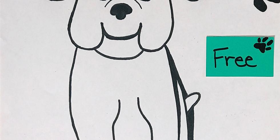 Free! Drawing Bulldogs & Paw Prints (1)