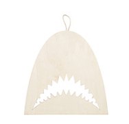 "Large Wood Shark 13"""