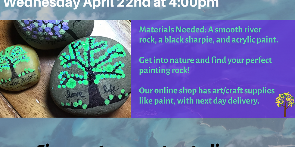 Free! Earth Day Rock Painting