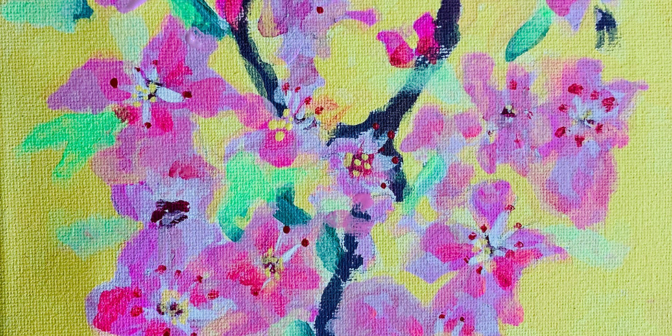 Japanese Cherry Blossom Painting Ages 8-12