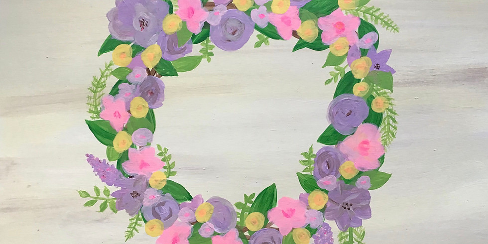 Spring Wreath Painting (Single Class)