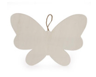Large Wood Butterfly 10""
