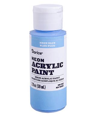 Neon Blue Acrylic Paint 2oz