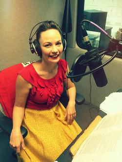 Ruth Clare recording audiobook