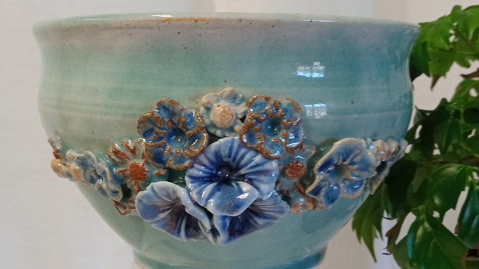 Botanical Turquoise Medium Bowl