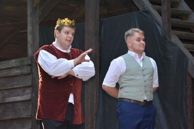 Král Vilém (Marek Cimirot) a Jakub (Milan Galandák)