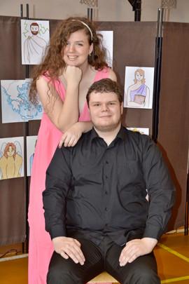 Persefona (Aneta Cimirotová) a Hádes (Marek Cimirot)