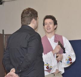 Orfeus (Jaroslav Chaloupka) a Hádes (Marek Cimirot
