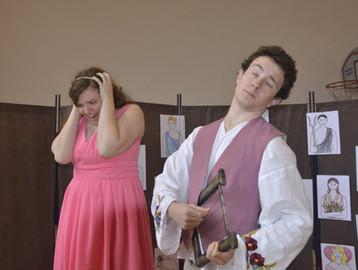 Persefona (Aneta Cimirotová) a Orfeus (Jaroslav Chaloupka)