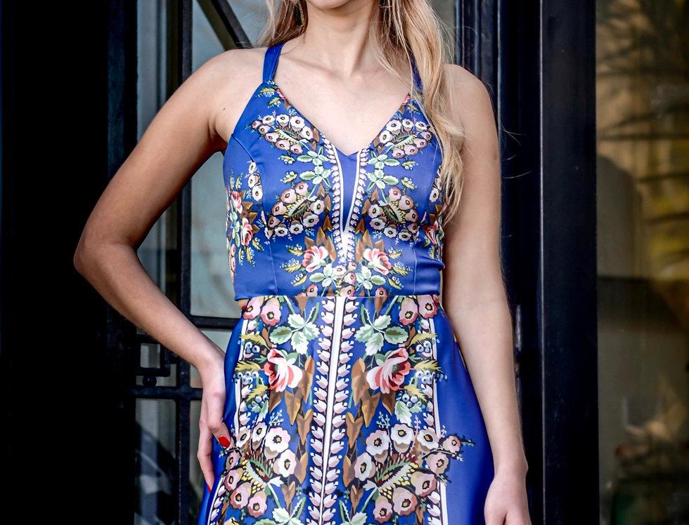 Vestido  New Perla Rusia Azul medio