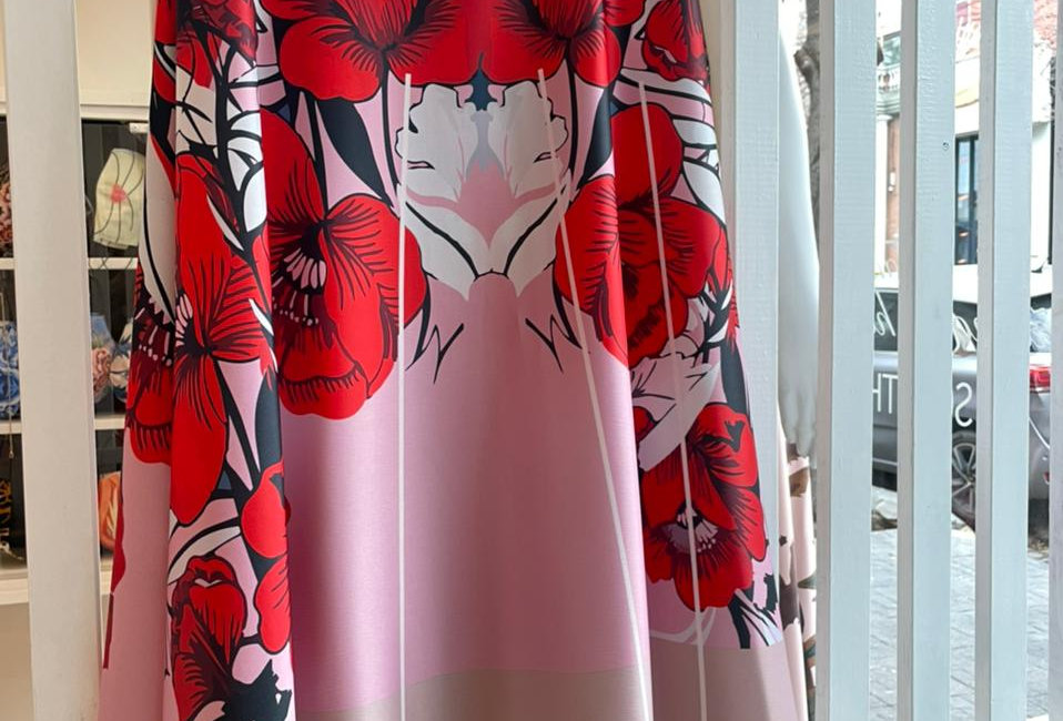 Falda midi Roses