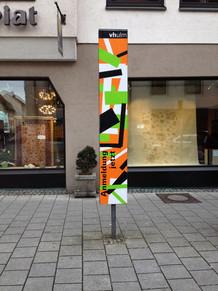 Plakatstele in Ulm