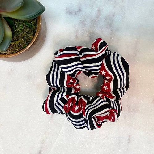 Scrunchies - Stars and Stripes-Black