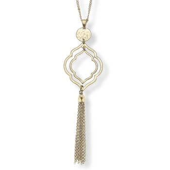 Tassel Necklace In Worn Gold