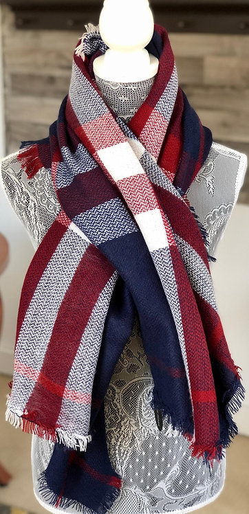 Red, White, and Blue Blanket Scarf