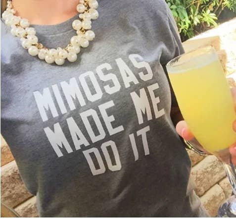 Mimosas Made Me Do It Signature Graphic Tee