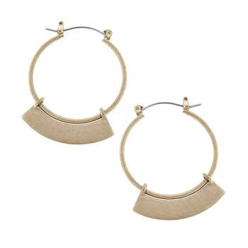 Architectural Hoop Earrings In Gold