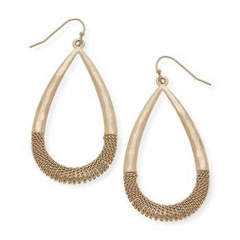 Lilly Teardrop Earrings In Worn Gold