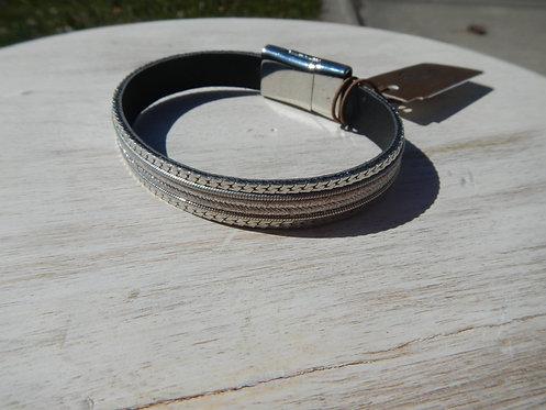 Silver Magnetic Bracelet