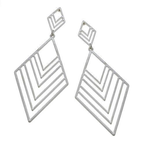 Linked Chevron Earrings