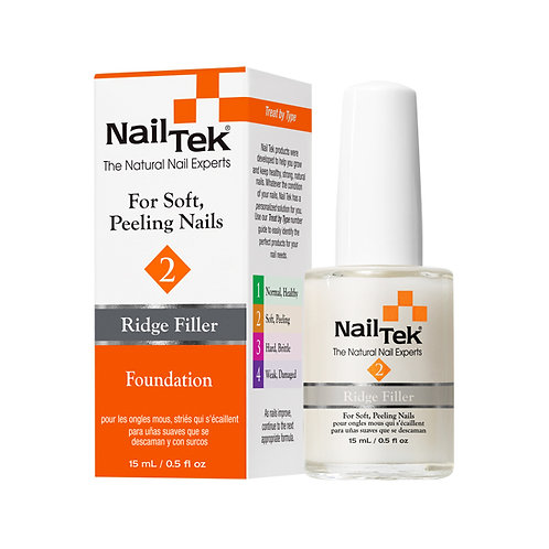 Nail Tek 2 Ridge Filler Foundation for soft peeling nails