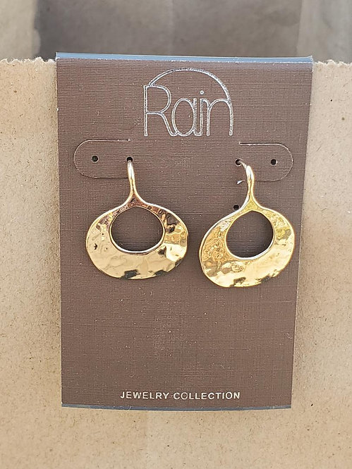 Small Gold Hammered Earrings