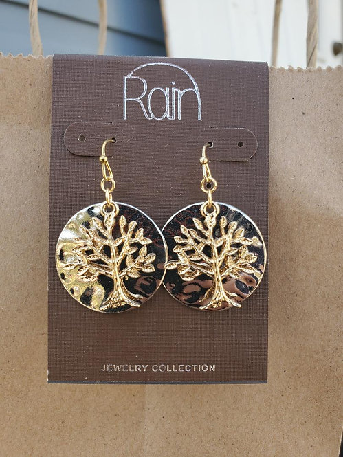 Gold and Silver Tree of Life Earrings