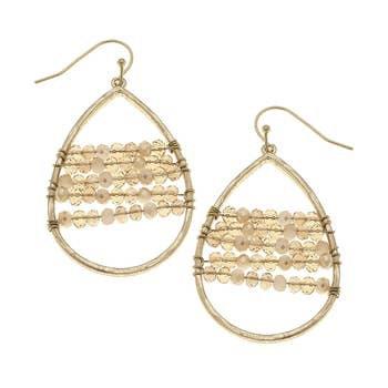 Teardrop Earrings In Champagne Glass